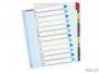 e100209 - przekładki do segregatora A4 Maxi numeryczne 1-12 Esselte Mylar, z laminowaną kartą opisową