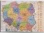 e12051 - mata na biurko 500x600 mm z mapą Polski Esselte