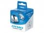 e14681 - taśma, etykiety do drukarek Dymo na płyty CD/ DVD śr.57 mm białe 1 rol./160 szt.
