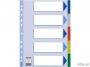 e15259 - przekładki do segregatora A4 PP Esselte 5 kart z PVC 5 kolorów