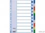 e15261 - przekładki do segregatora A4 PP Esselte 10 kart z PVC 5 kolorów