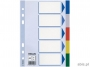 e15264 - przekładki do segregatora A5 PP Esselte 5 kart z PVC 5 kolorów