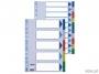 e15266 - przekładki do segregatora A4 PP Esselte 5 kart z 5 kolorów