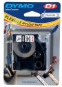 e16958 - taśma, etykiety do drukarek Dymo D1 nylonowa 19 mm x3,5m czarny / biały