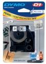 e16960 - taśma, etykiety do drukarek Dymo D1 poliestrowa trwała 19 mm x 5,5m czarny / biały