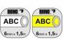 e1805a_ - taśma, etykiety do drukarek Dymo rurka termokurczliwa 6 mm x1,5m, na kabel o średnicy min 1,18 mm, max 2,33 mm