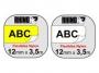 e1875_ - taśma, etykiety do drukarek Dymo nylonowa elastyczna 12 mm x3,5m