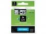 e4361_ - taśma, etykiety do drukarek Dymo D1 6 mm x7m, plastikowa, dwukolorowa