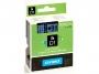 e537__ - taśma, etykiety do drukarek Dymo D1 24 mm x7m, plastikowa, dwukolorowa