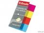 e83017 - zakładki indeksujące samoprzylepne Esselte 20x50 mm, Contacta neon 4 kolory, 4x40 szt.