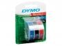 e847750 - taśma, etykiety do wytłaczarki Dymo 3D 9 mm x3m, mix ( czarna, czerwona, niebieska), 3 szt/op.