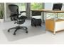 kf00191 - mata pod krzesło na podłogę 91,4 x 122 cm Q-Connect PVC kształt T Koszt transportu - zobacz szczegóły