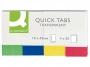 kf01225 - zakładki indeksujące samoprzylepne Q-Connect PP 19x43 mm, 4 kolory neonowe 4x50 kartek