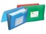 kf024__ - teczka harmonijkowa Q-Connect A4 PP z gumk�, z 12 przegr�dkami, r�ne kolory