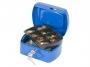 kf02608 - kasetka na pieniądze mała Q-Connect 155x75x120 mm, niebieska