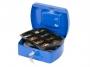 kf02623 - kasetka na pieniądze średnia Q-Connect 205x85x160 mm, niebieska