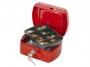 kf04247 - kasetka na pieniądze mała Q-Connect 155x75x120 mm, czerwona