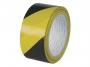kf04383 - taśma klejąca ostrzegawcza Q-Connect 48 mm x20m czarno-żółta
