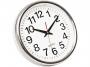 kf15589 - zegar ścienny Q-Connect Budapest 28 cm srebrny