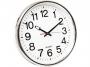kf15591 - zegar ścienny Q-Connect Warsaw 37,5 cm srebrny