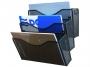 kf16574 - pojemnik na dokumenty, czasopisma / sorter biurkowy Q-Connect metalowy, 3 półki, czarny
