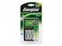kfen1401 - ładowarka do baterii - akumulatorów Energizer Maxi, 4 Sloty + 4 akumulatory Power Plus AA