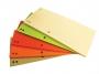 kfo21035 - przekładki do segregatora 1/3 A4 kartonowe Office Products mix kolorów, 100 szt./op.