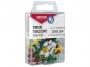 kfo94466 - pinezki do tablic korkowych, kolorowe beczułki Office Products 25 szt./op.