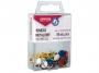 kfo95563 - pinezki do tablic korkowych, metalowe płaskie kolorowe Office Products zwykłe 50 szt./op.