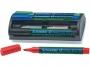 kr111098 - marker do tablic suchościeralnych whiteboard Schneider MaxxEco110, 4 szt./kpl. z gąbką