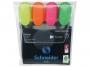 kr1500 - zakreślacz fluorescencyjny Schneider Job 1.5 mm 4 szt./kpl.