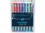 kr151298 - długopis Schneider Slider Basic XB, w etui, kolory podstawowe i neonowe, 8 szt./op.