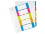 l124100 - przekładki do segregatora A4 PP numeryczne Leitz 1-5, kolorowe