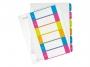 l124200 - przekładki do segregatora A4 PP numeryczne Leitz 1-6, kolorowe