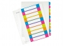 l124300 - przekładki do segregatora A4 PP numeryczne Leitz 1-10, kolorowe