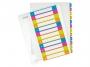 l124400 - przekładki do segregatora A4 PP numeryczne Leitz 1-12, kolorowe