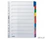 l4321 - przekładki do segregatora A4 kartonowe Leitz 10 kolorów