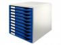 l5281__ - pojemnik na dokumenty, czasopisma / sorter biurowy Leitz z 10 szufladami, modułowy