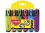 ma742557 - zakreślacz fluorescencyjny Maped Fluo Peps 6 szt./kpl.