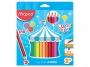 ma834012 - kredki ołówkowe Maped Colorpeps Jumbo trójkątne, 18 kolorów