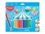 ma834013 - kredki ołówkowe Maped Colorpeps Jumbo trójkątne, 24 kolory