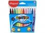 ma845020 - flamastry szkolne trójkątne Maped Colorpeps 12 kolorów