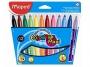 ma846020 - flamastry szkolne trójkątne Maped Colorpeps Maxi 12 kolorów