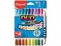 ma847010 - flamastry szkolne dwustronne Maped duo, 10 sztuk - 20 kolorów