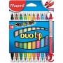 ma849010 - flamastry szkolne dwustronne Maped Colorpeps DuoTip, 10 kolorów