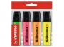 t15704 - zakreślacz fluorescencyjny Stabilo Boss Eco-Pack 4szt./op.