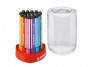 t368-12 - flamastry szkolne Stabilo Scribbi 12 kolorów, piórnik na biurko