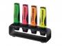 t7304 - zakreślacz fluorescencyjny Stabilo Executive komplet biurkowy, przybornik, 4 szt.
