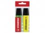 tag15702 - zakreślacz fluorescencyjny Stabilo Boss Eco Wallet 2 szt./etui