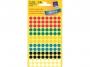 z3090 - etykiety samoprzylepne okrągłe Avery Zweckform 3090 śr. 8 mm, kółka, mix kolorów, 416 szt./op.